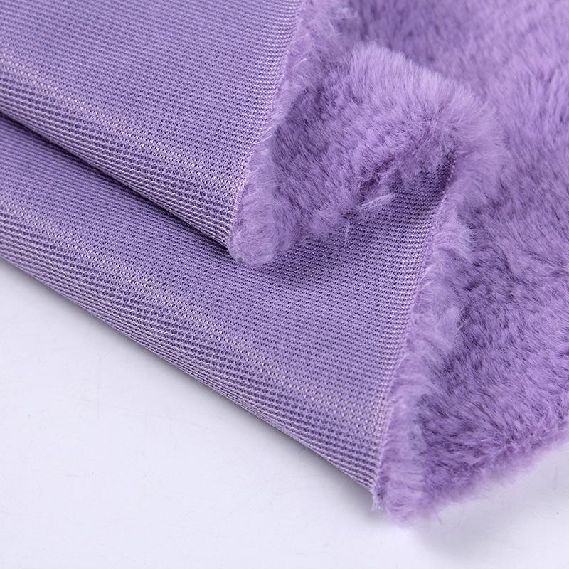 Super soft short hair faux rabbit fur fabric