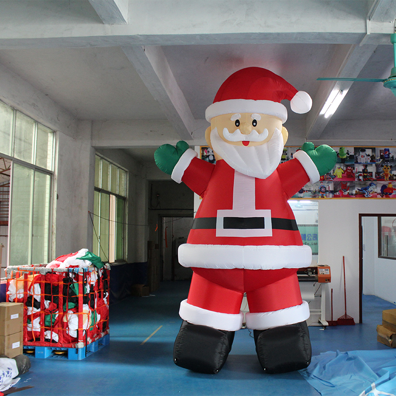 2018 Adult Size Moving Inflatable Santa Claus, Walking Inflatable Old man Costume