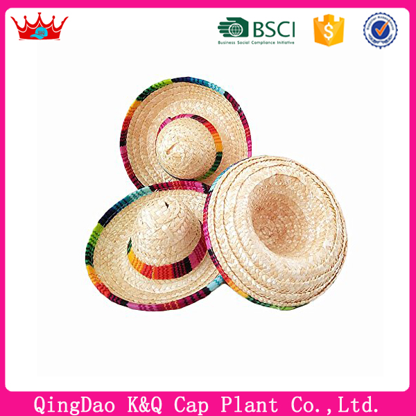Mini Sombrero Mexican Hat Straw Hat for Decoration