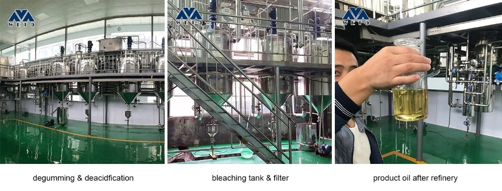 Continuous physical refining plant soya peanut sunflower vegetable oil processing plant oil press machine