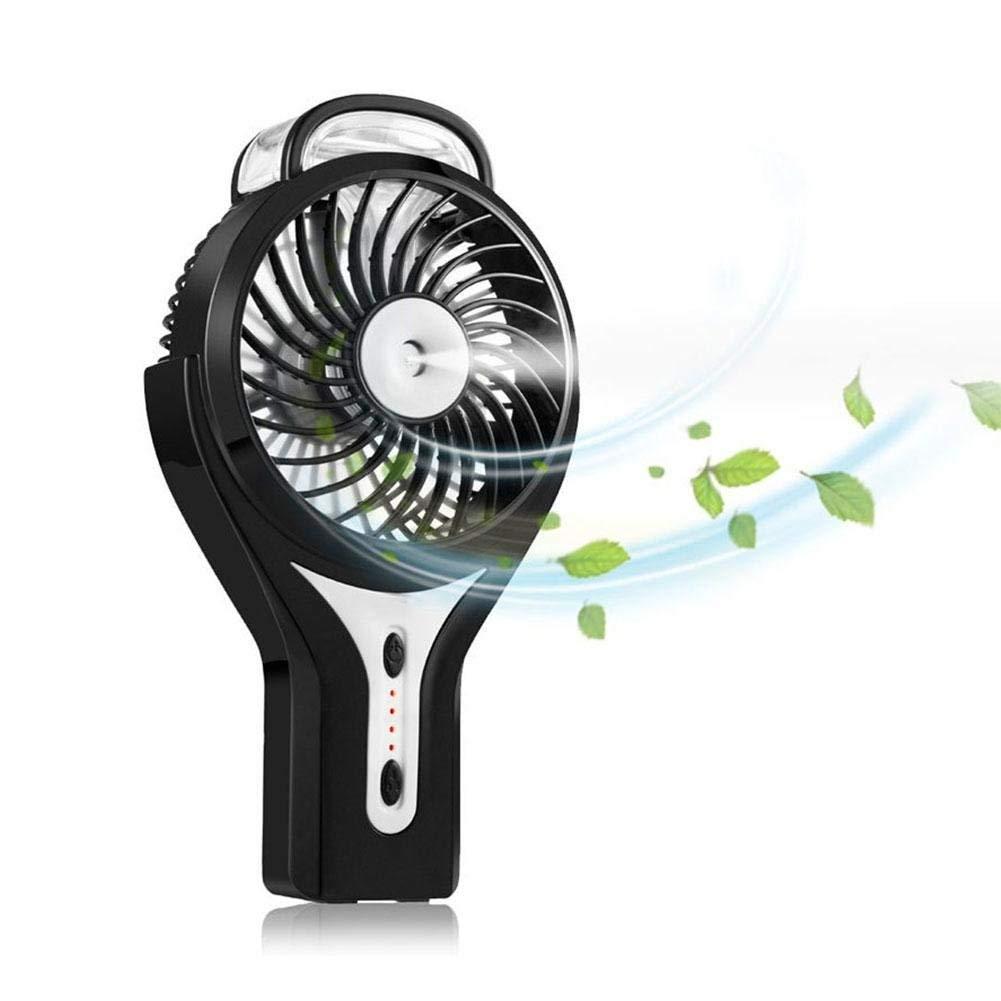 Prom-Near USB Mini Fan Portable Humidifier Table Fan Charging Small Handheld Fan Humidifier Mute Palmtop Fan Desktop Personal Cooling Fan Handheld Fan