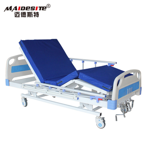 Factory Price Adjustable 3 functions Manual Hospital Medical Bed With High Low Function