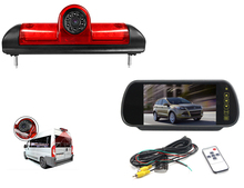 "Vehicle reverse rear view remlicht camera voor FIAT Ducato, Peugeot Boxer, citroen Jumper + 7 ""backup mirror Monitor"