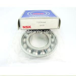 Original NSK 7206AC Angular contact ball bearing 7206C 7206 bearing