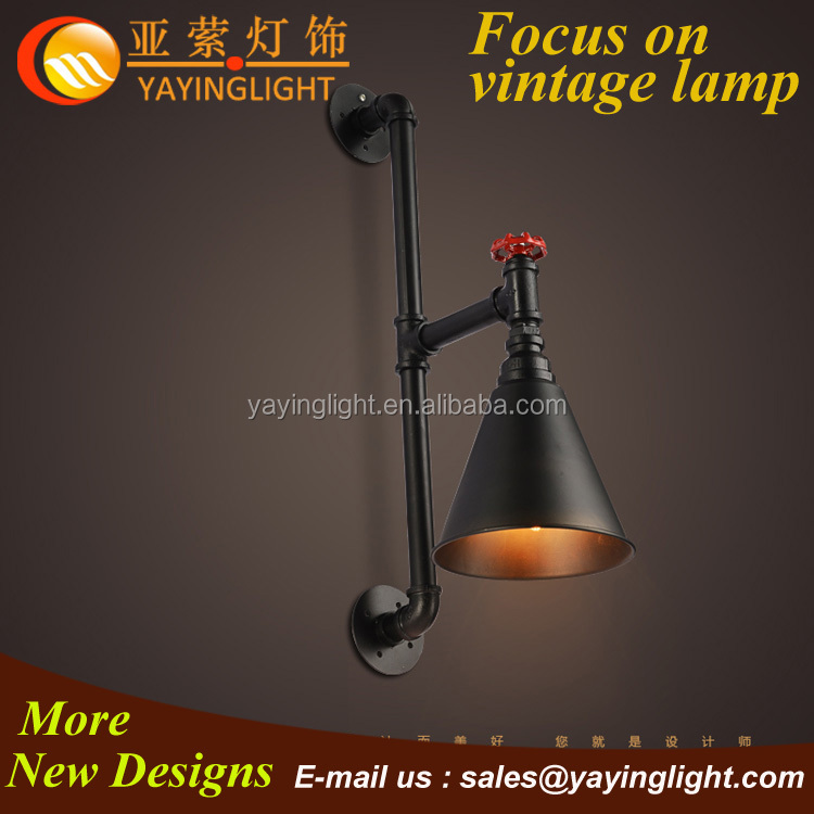 Industrial Edison Filament Horn Wall Light,Wrought Iron Speaker ...