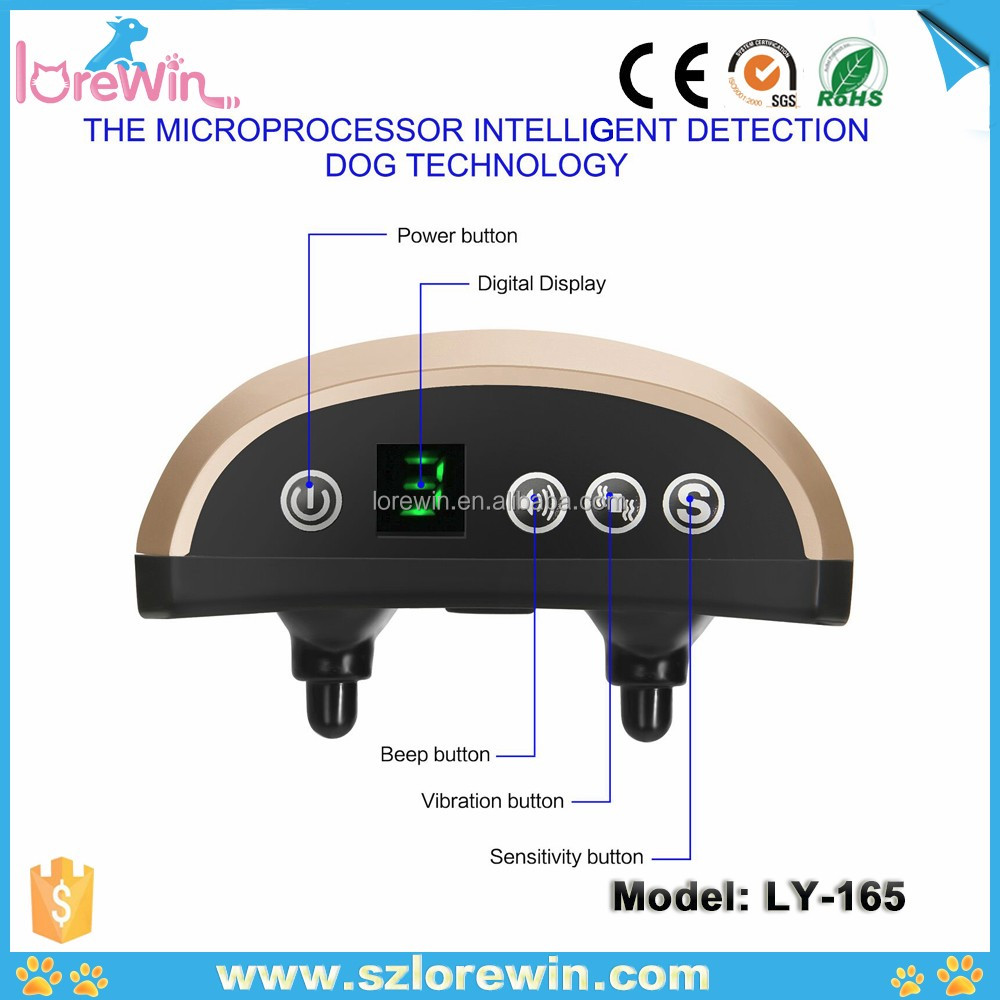 LoreWin LY-165 Hot Sale Automatic Anti Bark No Barking Remote Electric Shock Vibration Remote Pet Dog Training Collar