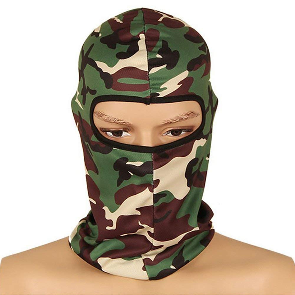 43ee8751bf4 Get Quotations · Savanaha Camouflage Balaclava Ninja Hood Military Camo  Balaclava Tactical Balaclava Motorcycle Face Mask for Hunting Outdoor