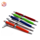 Logo customized funny Stylus spray paint twist ballpoint pen with screen touch