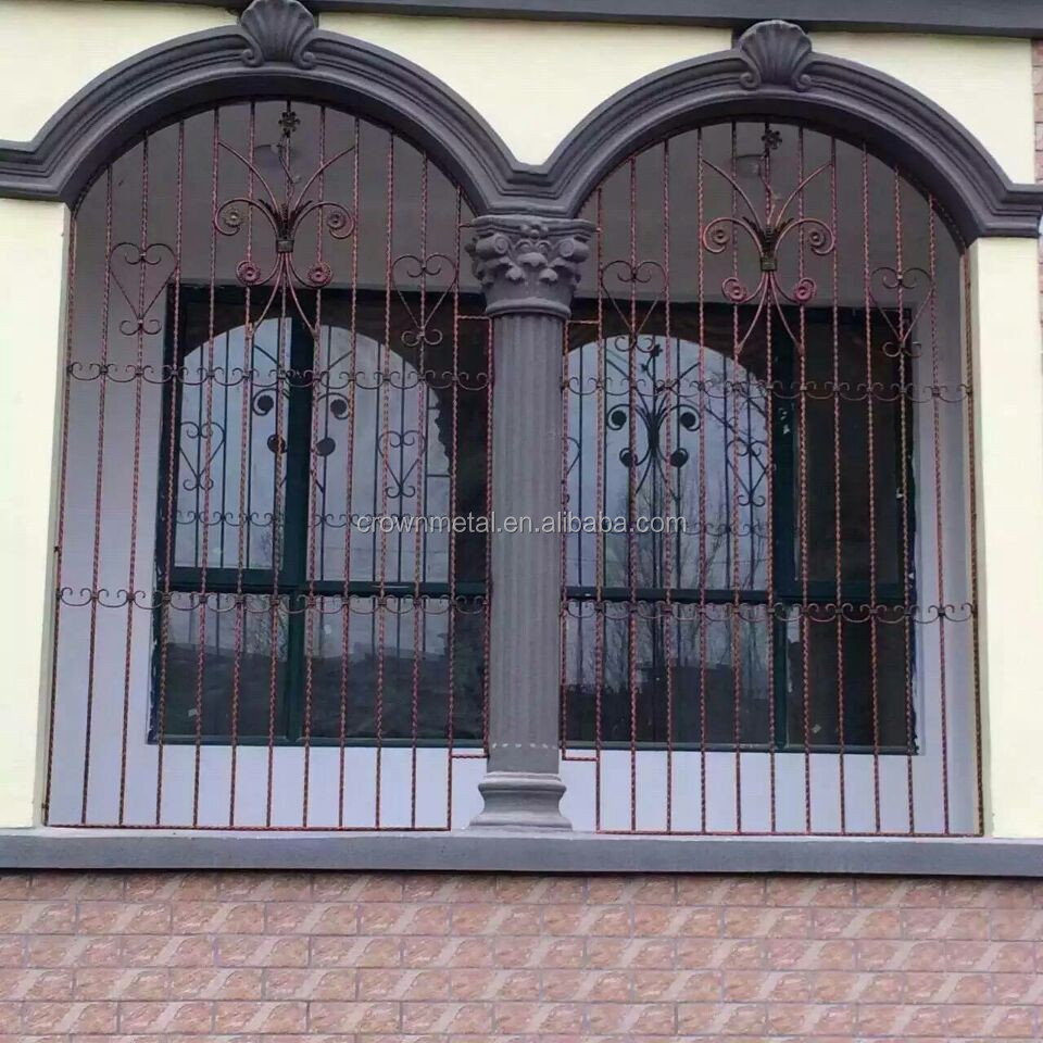 Liaochen modern simple iron window wrought iron square for Square window design