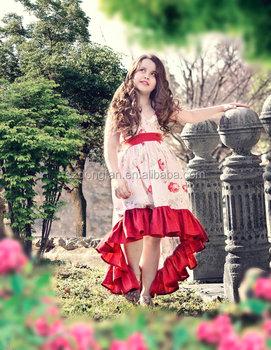 Lungo Maxi Vestito Roses Vintage Abiti Per Le Ragazze Di 10 Anni