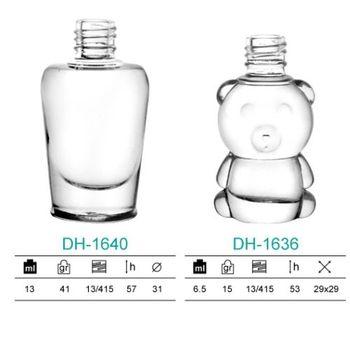 13ml And 6.5ml Animal Shaped Glass Bottle,Nail Polish Brush Cap With ...