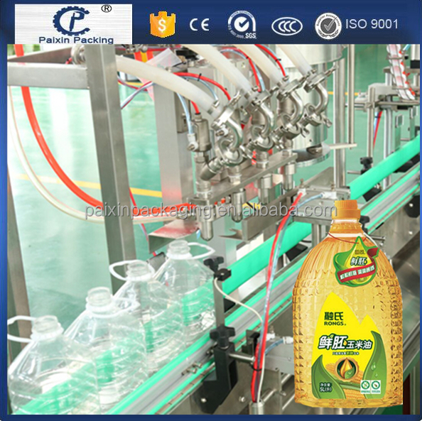 shanghai Factory price 1L soybean oil capping filling machine glass bottle filling