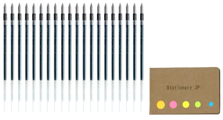 Uni-ball SXR-80-05 Jetstream Ballpoint Multi Pen Refill, 0.5 mm, Black Ink, 20-pack, Sticky Notes Value Set