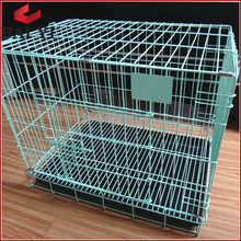 Two Door Folding Steel Dog Cages,Dog Crate,Dog Kennel With Plastic Tray