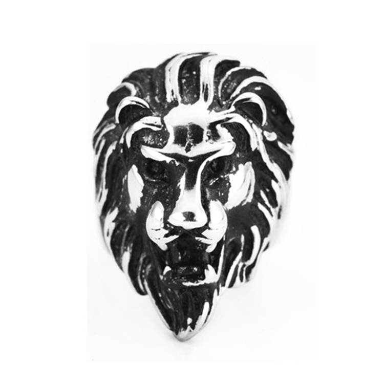 Wholesale in Europe and the lion ring titanium steel foundry men domineering classic jewelry ring of foreign trade
