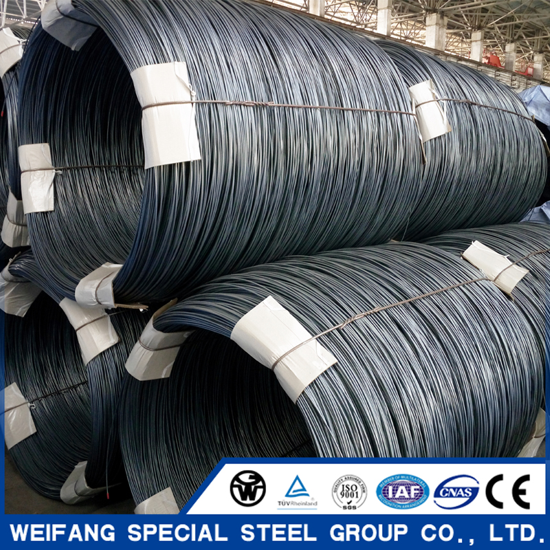 Manufacturer:hot rolled steel wire rod coil:SWRH82B,SAE1006,SAE1008,SWRCH22A,SWRY11.