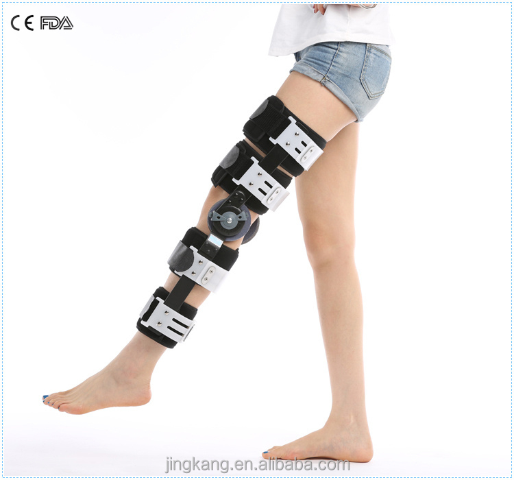 948ace1cf6 High quality therapy knee pain ROM Hinged knee brace / CE FDA fracture knee  support /