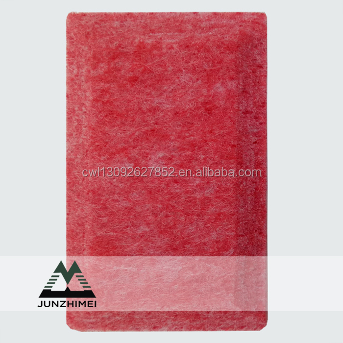 red mdf noise panel glass wool polyester acoustic panel