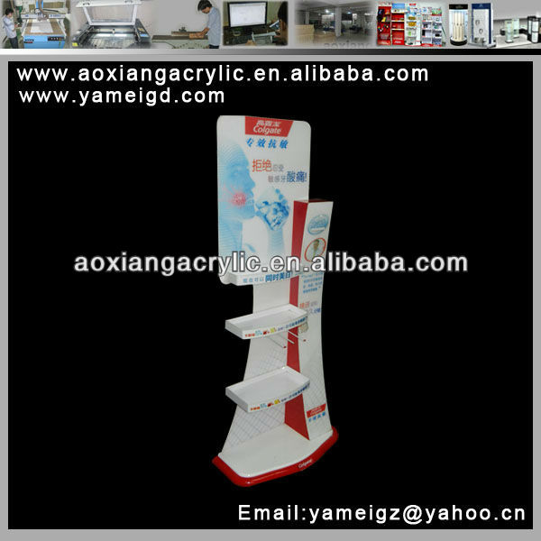 High load storage Floor beverage pouches Acrylic Cabinet stand