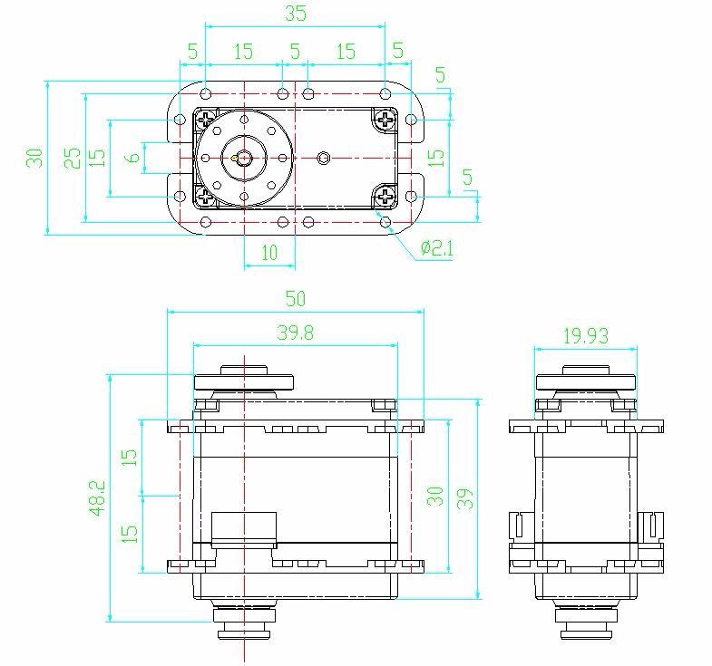 FEETECH SCS115 Dual Shaft 15 kg Digital Servo Like Dynamixel AX-12A Smart Serial Servo Motor