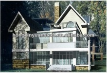 Villa house plans(luxury steel prefabricated)/prefab house from China manufacturer