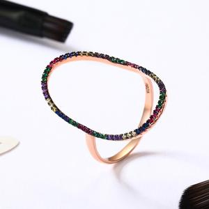BAGREER SCR121 Unique new Ellipse big hollow colorful gemstone ring 925 silver finger ring for women jewelry party ornament