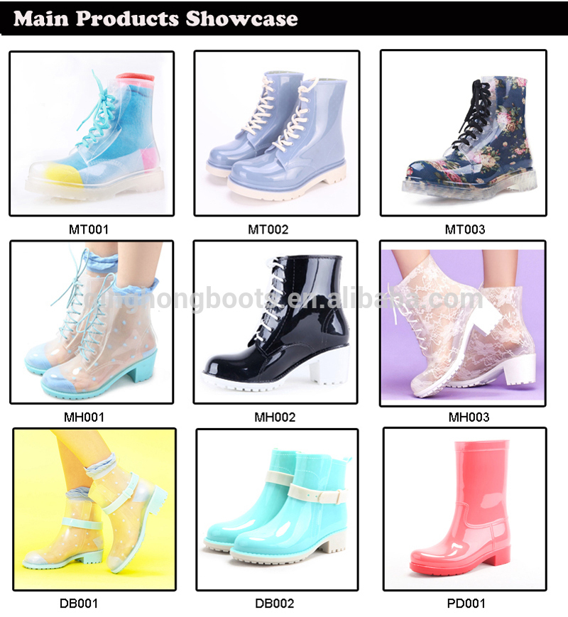 Beautiful Girls High Heel Rain Boots Rain Coat,Transparent Rain ...