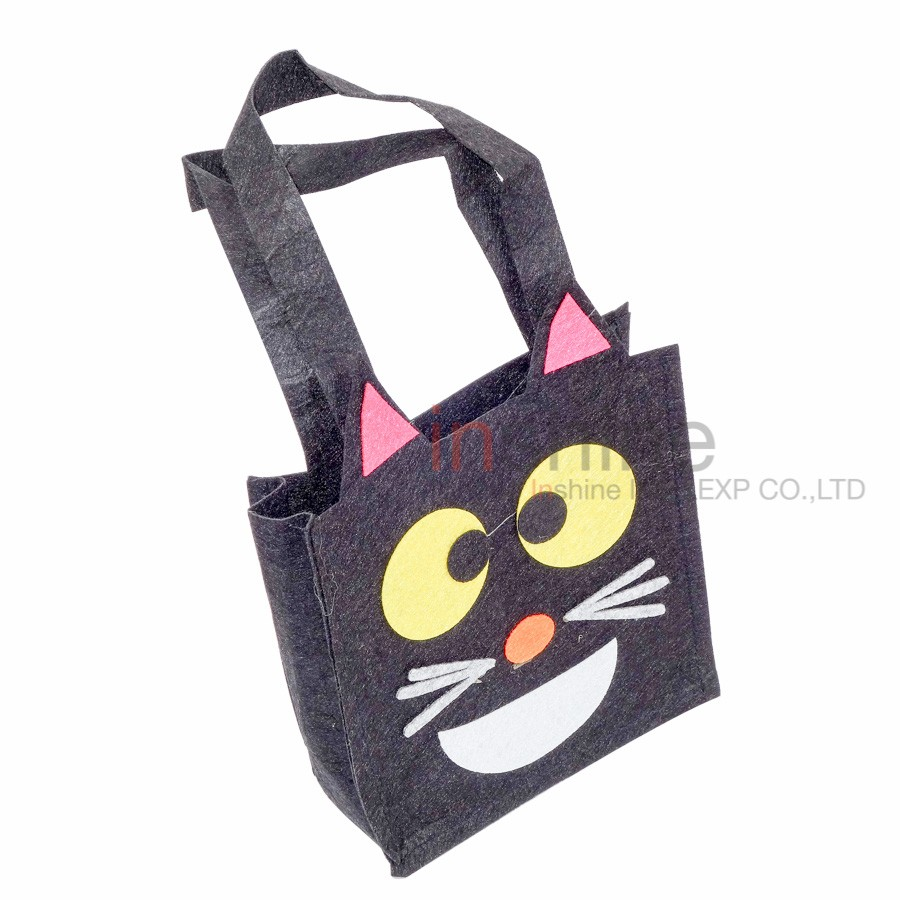 IN51107 Cheap wholesale chevron halloween tote bag , treat bag