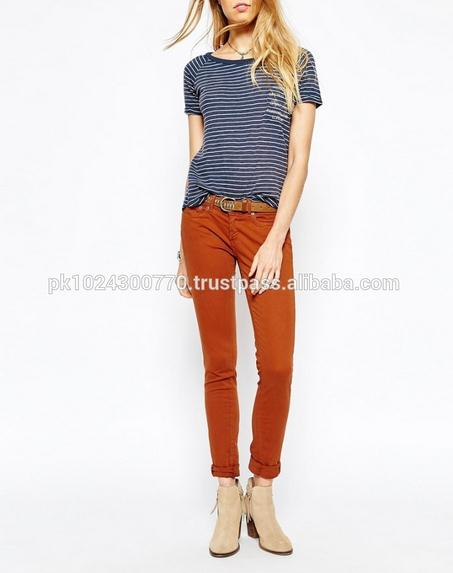 Red Color Comfortable Latest Desigh Jeans