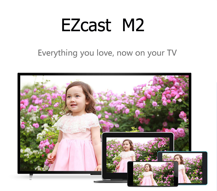 2015 new ezcast m2 miracast dongle for xp win7 win8