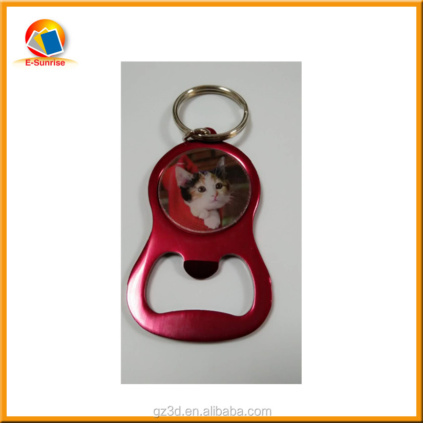 China multi 3d lenticular key chain with beverage bottle opener for 3d gifts