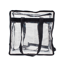 Modo caldo di Vendita Nessuna Chiusura Lampo Trasparente Impermeabile Trasparente Shopping Bag In Pvc Shopping Bag Packaging cosmetico Per Le Donne