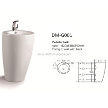 Domo High Quality China Factory White Color Ceramic Pedestal Basin