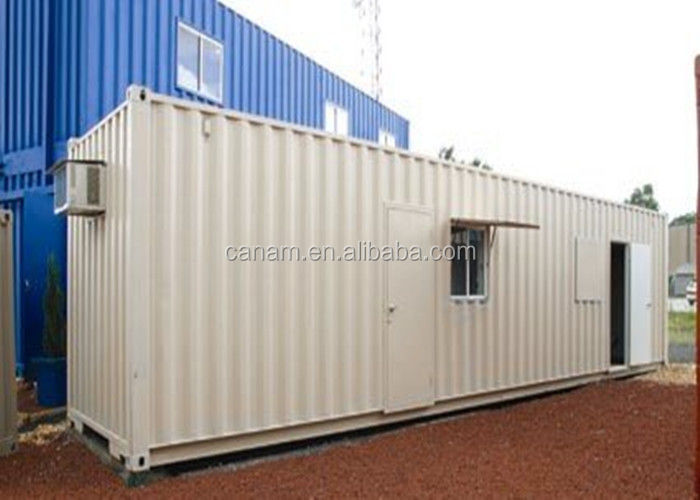 Flat pack 20 feet DIY container house white color sandwich panel glasswool core wall
