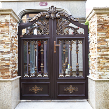 HS LH023 Aluminum Modern Main Gate Designs For Homes