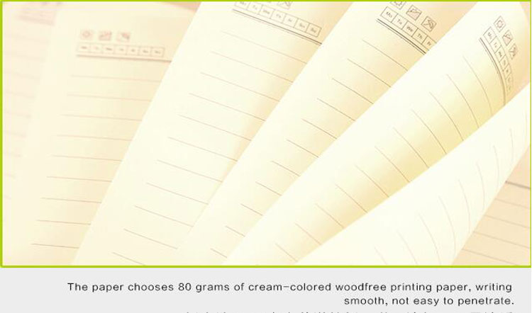 Cheap custom paper a4 a5 printed school kraft paper blank notebook