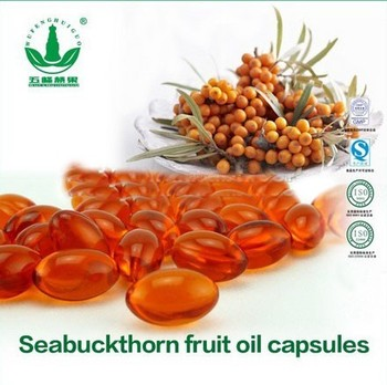 GMP approved Sea buckthorn berry Oil soft Capsules softgels