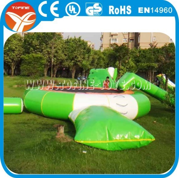inflatable water blob trampoline