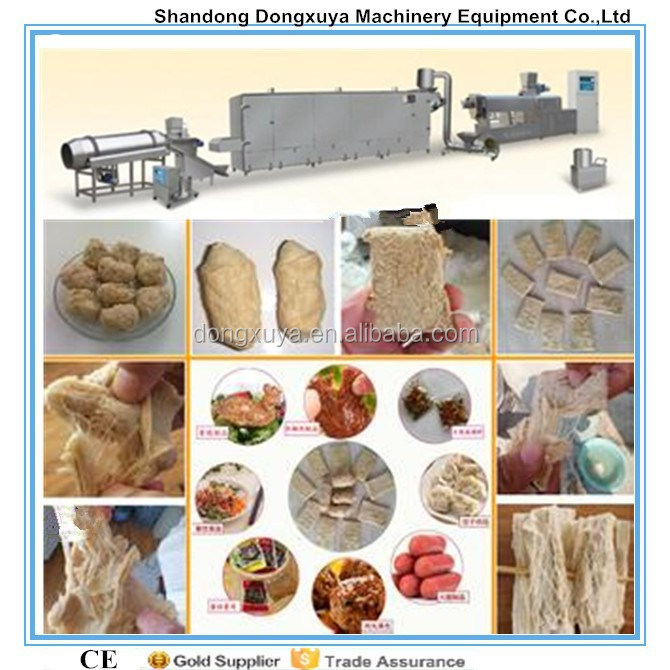 twin screw extruder textured soya protein making machine /soy meat processing line/soya nuggets