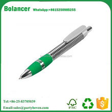 Customized Promotional Cheap Plastic High-tech Spiral Design Ball Pen