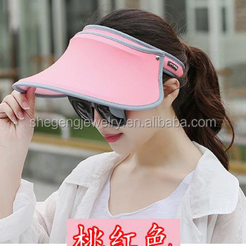 Anti-uv Spf50+ Solar Protection Visor Hat Golf Tennis Sun Cap - Buy ... 92247a17170