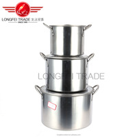 factory stocked wholesale stainless steel soup boilling pot set/cooking pot set
