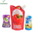 Stand up biodegradable liquid packaging plastic food pouch bags with spout