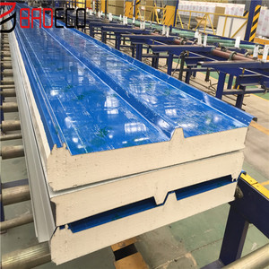 PU foam polyurethane PUR PIR PUF insulated composite sandwich panels/sheets for ceiling