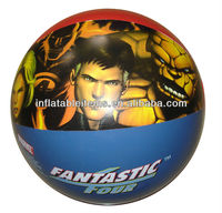 inflatbale beach ball with Fantastic Four