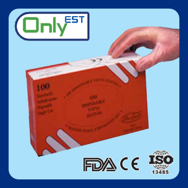 latex free EN-455 standard cheap powder free Medical Vinyl Glove used in clinic