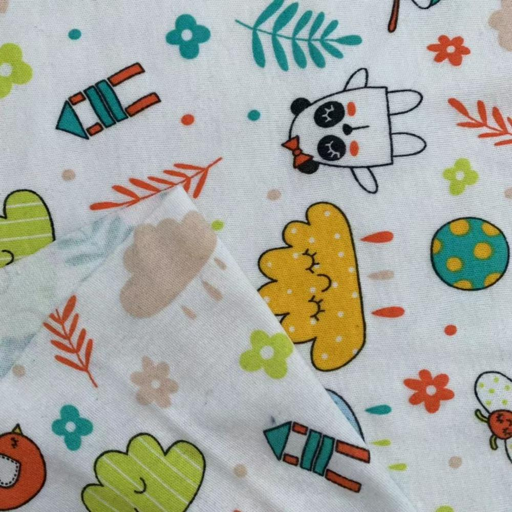 Organic <strong>cotton</strong> printed <strong>interlock</strong> for baby kids garment