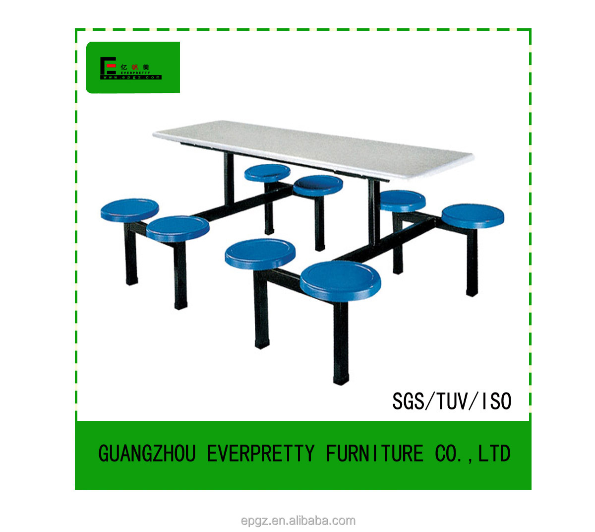 Round school table - Fiber Glass Canteen Table With 8 Round Chairs 8 Person Fiberglass Canteen Table Chairs For School Buy Fiber Glass Canteen Table Dinning Table Chair Chair