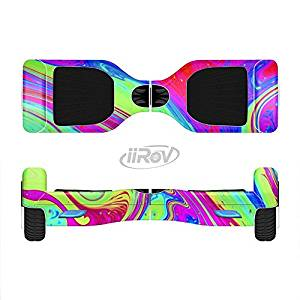 The Neon Color Fusion V11 Full-Body Wrap Skin Kit for the iiRov HoverBoards and other Scooter (HOVERBOARD NOT INCLUDED)