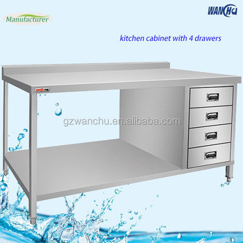 Customized Size Commercial Stainless Steel Work Bench Work Table Working Tables Stainless Steel Kitchen Work Table With 4 Drawer Buy Stainless Steel
